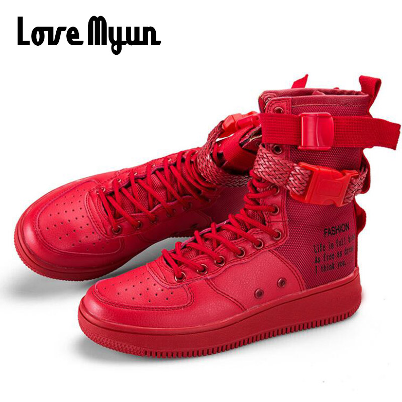Shoes New Fashion Men Shoes Boots Sneakers High Top Casual Flats Shoes Male Hip-hop Mid Calf Boots Shoes Boys Buckle Shoes Pp-38 Men's Shoes