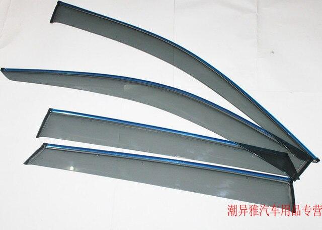 Для Hyundai Santa Fe New IX45 2013 Окно Visor Vent Оттенки Солнце Дождь Гвардии Автомобилей аксессуары Для Стайлинга Кузова!