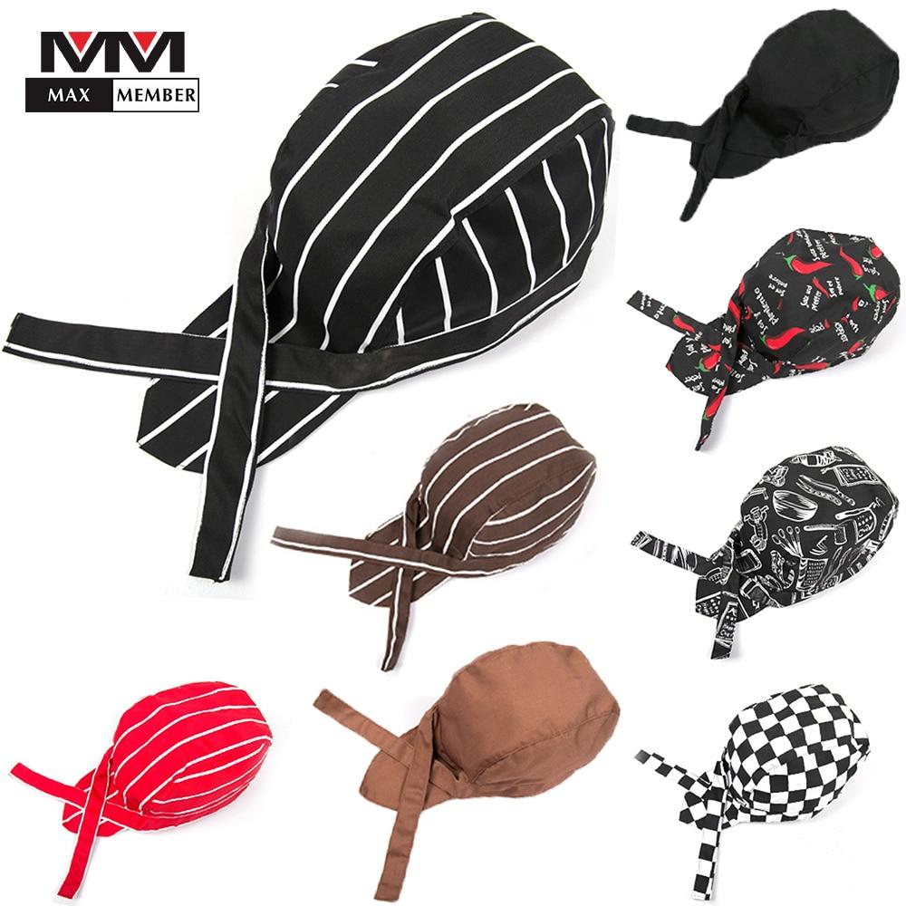 Men Women Wholesale Top Chef Pirate Hat Waiter Hats Hotel Restaurant Canteen Bakery Kitchen Work Wear Master Cook Forward Cap