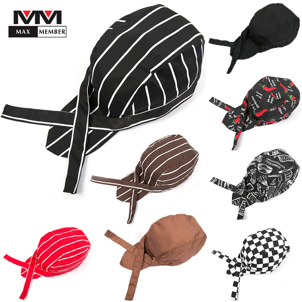 Men Women Wholesale Top Chef Pirate Hat Waiter Hats Hotel Restaurant Canteen Bakery Kitchen Work Wear Master Cook Forward Cap