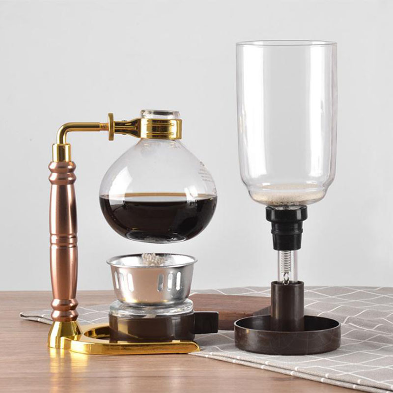 MICCK High Quality 3 Cups Syphon Pots Coffee Kettle pot Set Filter Syphon Coffee Maker Tea Siphon Heat Resistant Household Pot in Coffee Pots from Home Garden