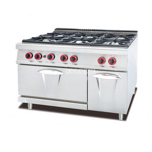 Stove-Cooker Kitchen-Equipment Cabinet-6-Burners Commercial Gas-Oven Outdoor GH-997A