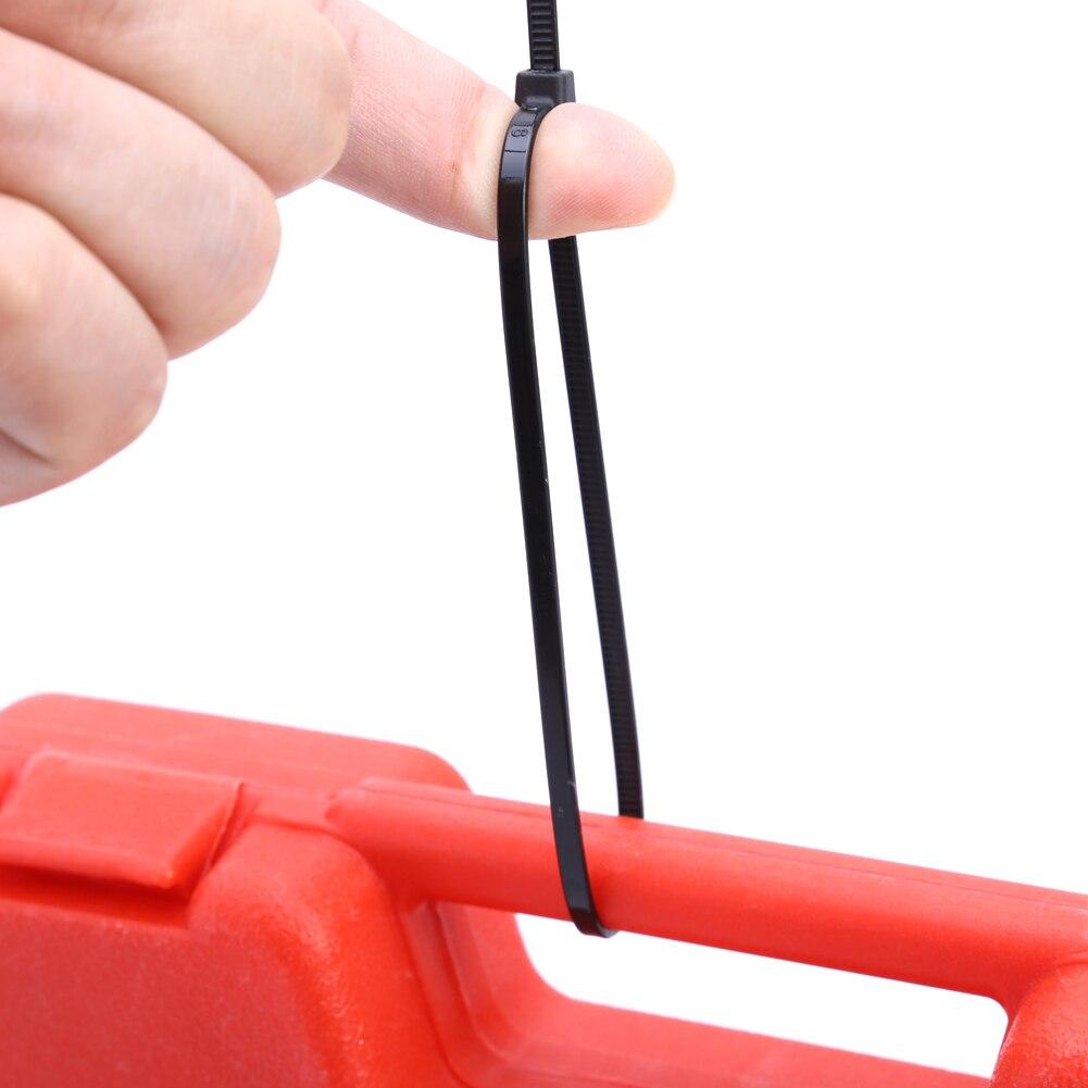 1000 pcs 12 Nylon Plastic Zip Trim Wrap Cable Loop Ties Wire Self Lock 40 lbs 300mm x 3.6mm self lock nylon cable wire ties green 1000 pcs
