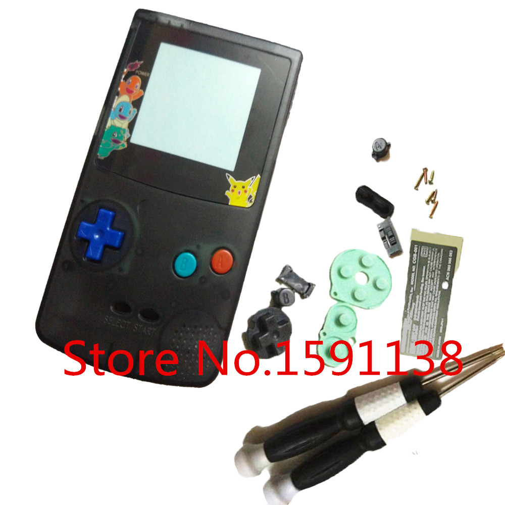 Nintendo game boy color youtube - Ga Gameboy Color Usb New 1pcs Lot Oem Clear Black Housing Shell For Gbc Gameboy