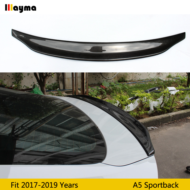 Caractere style Carbon fiber rear trunk spoiler For <font><b>Audi</b></font> <font><b>A5</b></font> <font><b>Sportback</b></font> <font><b>2017</b></font> 2018 year <font><b>A5</b></font> CF spoiler Wing (Not fit sline s5 rs5) image