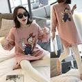 Outono e inverno Coreano mulheres pijamas Dos Desenhos Animados do Pato Donald algodão Solto O-pescoço encantador terno Agasalho menina pijama frete grátis