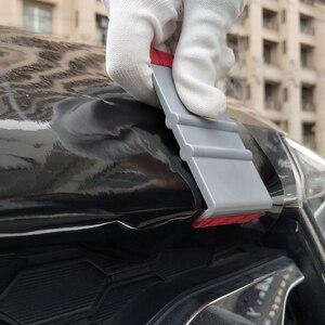Image 2 - FOSHIO 90 درجة الفينيل سيارة التفاف ستوكات ممسحة حافة مكشطة شريط الياف الكربون ملصقات التفاف أداة السيارات نافذة تينت أدوات