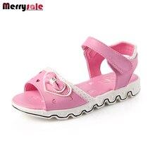 2017 summer children's sandals girls sandals fashion Korean girl fish mouth princess shoes bow Princess shoes