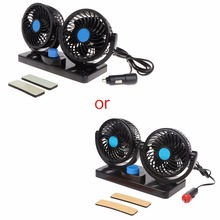12V 24V Mini Air Conditioner For Car Electric Cooling Fan Rotating 2 Gears Portable 360 Degree