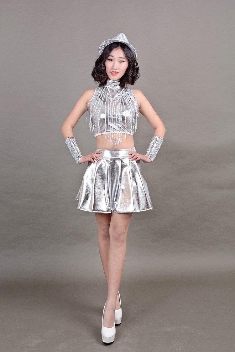 Robe de danse Jazz adulte vêtements de danse moderne Hip Hop femme chanteuse DS Costume