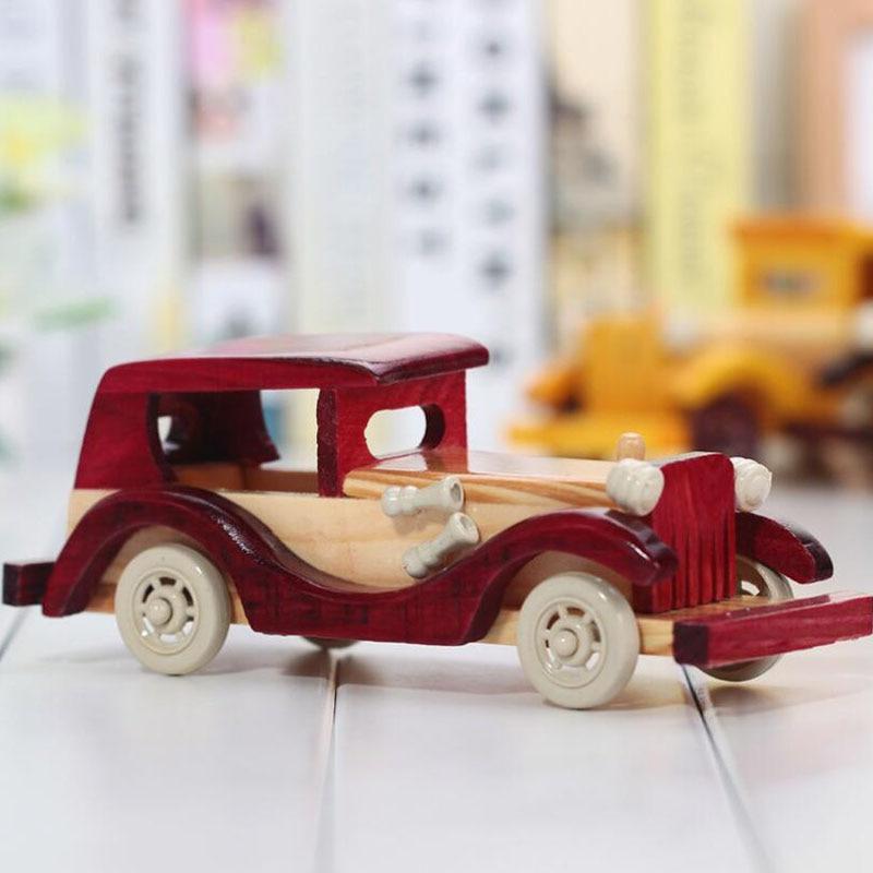 Vintage Car Model Car Toys Wooden Indoor Scale Models Toy American