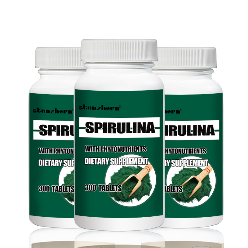 Big Deal Free Shipping  3 Bottles Natural Pollution Organic Spirulina 250mg Total 900PCS