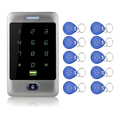 Free Shipping!125KHZ Metal Touch Screen Keypad Access Controller Door Lock Coded Lock System C30 Model Card Reader+10 Key fobs