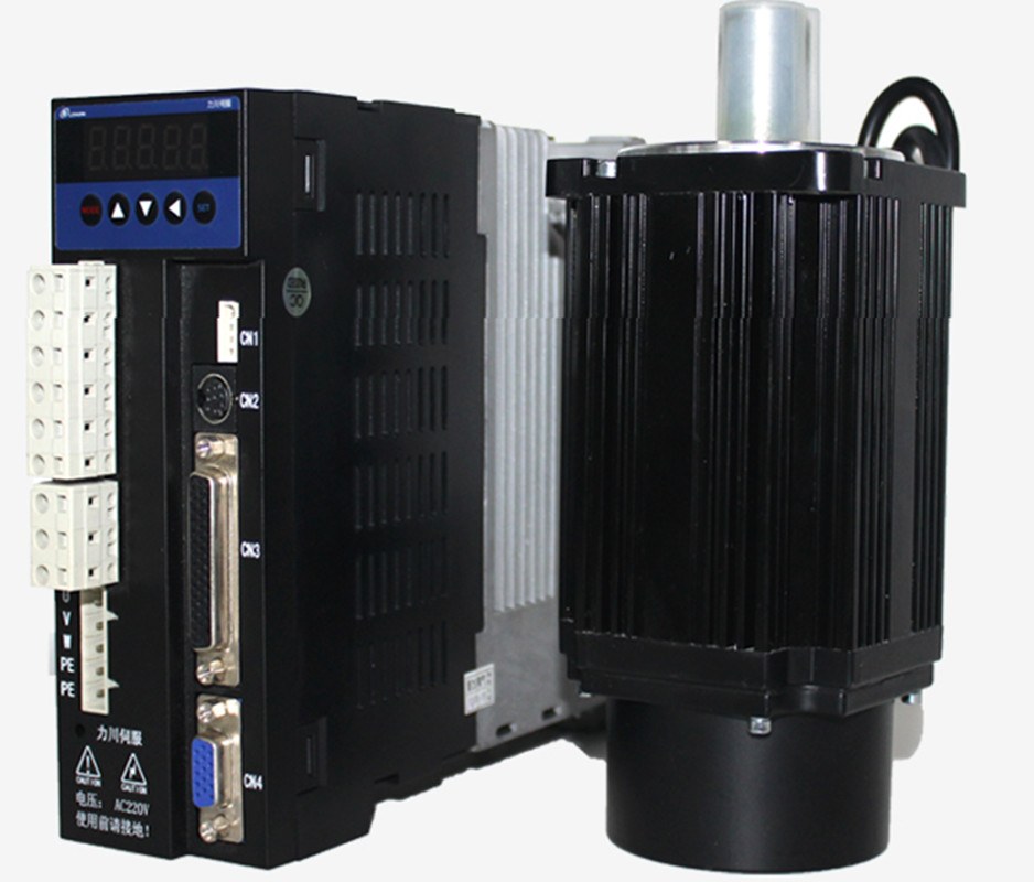 3phase 220V 2000w 2kw 7.7N.m 2500rpm 130mm AC servo motor drive kit 2500ppr with 3m cable used servo drive servo motor 1 6kw 220v 8n 2000 plus transfer