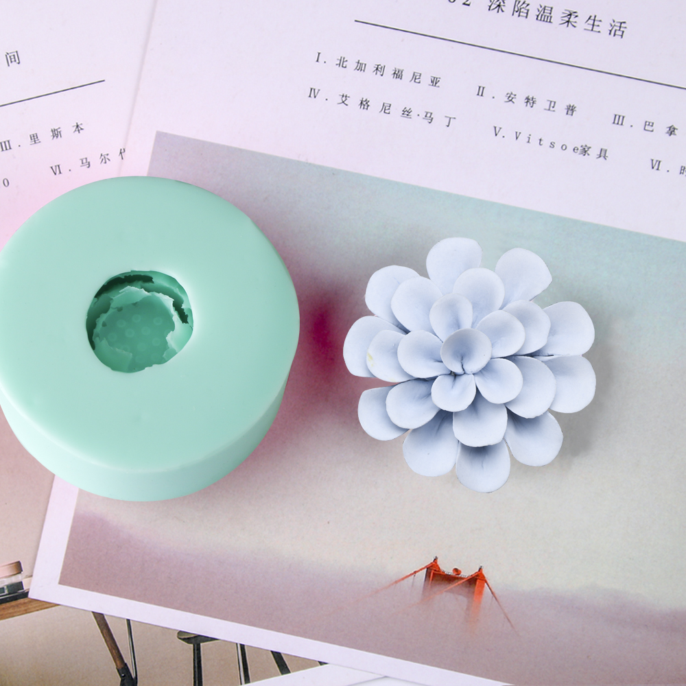 HC0035 Silica gel 3D molds Longevity flowers silicone soap mold flower candle aroma mould soap making moulds resin clay molds