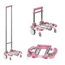 multifunctional portable storage cart dapur rolling shopping cart rumah aluminium aloi kereta troli treler bagasi logam