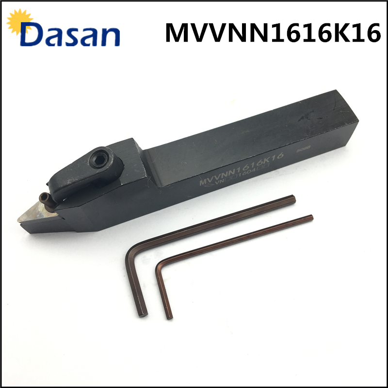 MVVNN1616K16 CNC HSS Turning Tool External Turning Tool Holder With Torx Wrench For Carbide Turning Insert VNMG160404 VNMG160408