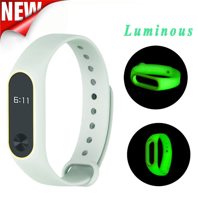 Watch Band Wrist band Wristband Women Men Bracelet New Original Luminous Silicon Wrist StrapFor XIAOMI MI Band 2 P5 adjustable wrist and forearm splint external fixed support wrist brace fixing orthosisfit for men and women