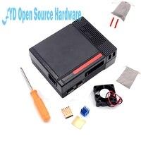 1set Black Mini NES NESPI CASE Retroflag Case With Cooling Fan Designed For Raspberry Pi 3