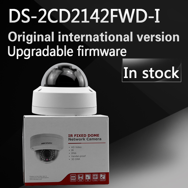 In stock free shipping english version DS-2CD2142FWD-I 4MP mini dome network cctv camera dhl free shipping in stock new arrival english version ds 2cd2142fwd iws 4mp wdr fixed dome with wifi network camera