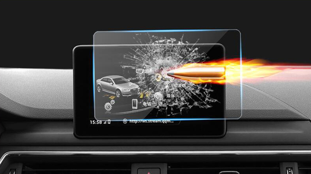 For Audi A4 B9 2017 2018 Gps Navigation Tempered Gl Screen Protector Cover Protective Film 1pcs
