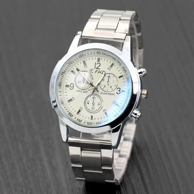 New manufacturer sells dazzling blue glass eyes alloy watch male hot style gift men's quartz watch Relogion lole платье lsw2254 luisa dress m dazzling blue heather