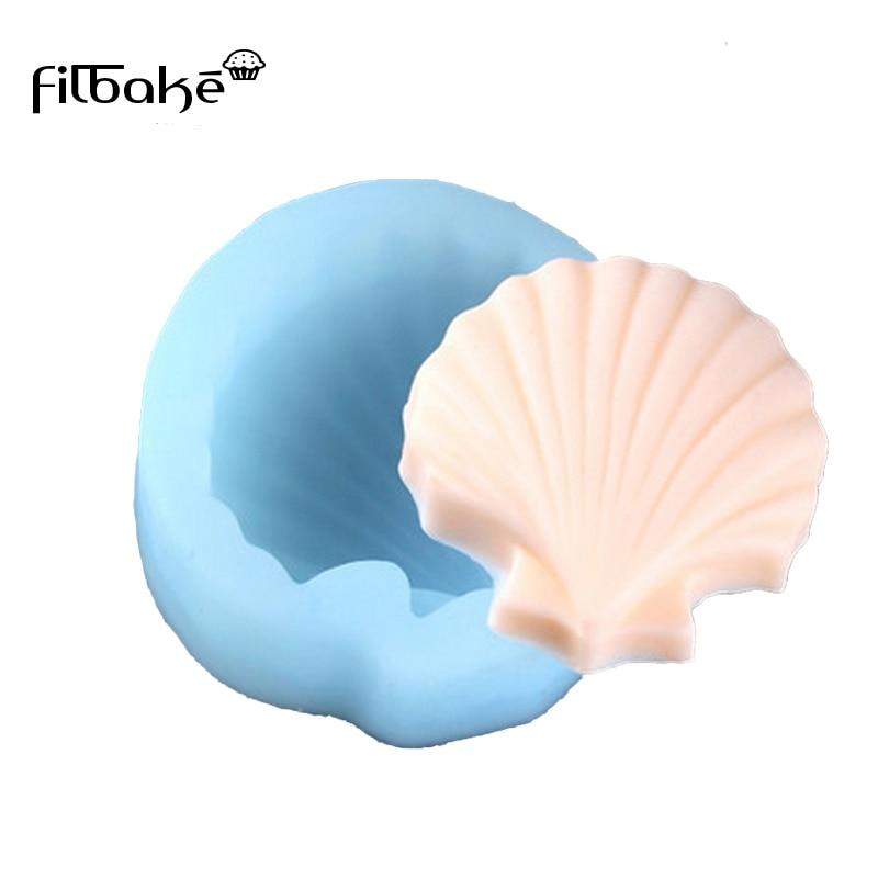 FILBAKE Cupcake Liners Shell Shaped 3D Fondant Silicone Moulds հաց - Խոհանոց, ճաշարան եւ բար - Լուսանկար 1