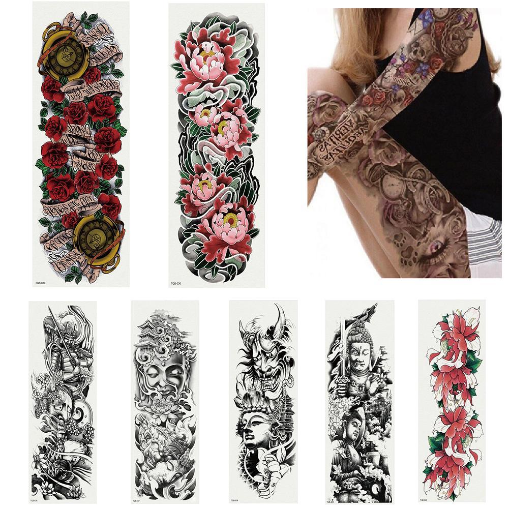8d841383b Waterproof Temporary Tattoos 2018 Full Arm Temporary Fake Tattoo Men Women  Body Art Decal Water Transfer Sticker