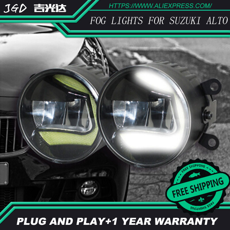 For Suzuki Alto LR2 Car styling front bumper LED fog Lights high brightness fog lamps 1set led front fog lights for renault koleos hy 2008 2013 2014 2015 car styling bumper high brightness drl driving fog lamps 1set
