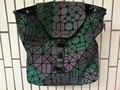 2017 Nueva geometría Bao bao mujeres nano Enrejado de Diamante del bolso de Mano Acolchado mochila sac bolsas mujeres de La serie camaleón