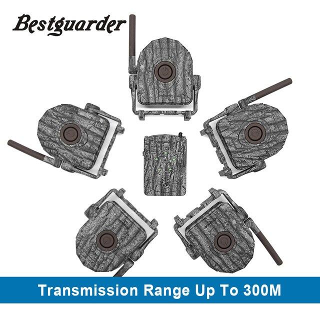ワイヤレス警報システムキット 5 個/2 個赤外線検出器 + 1pc 受信機 300 メートル ir 狩猟トレイル野生トラップホームセキュリティ