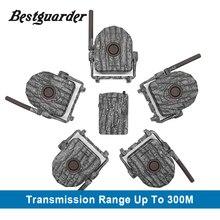 Kits système dalarme sans fil 5 pièces/2 pièces détecteur infrarouge + 1pc récepteur 300M pour IR chasse Trail piège sauvage sécurité à la maison