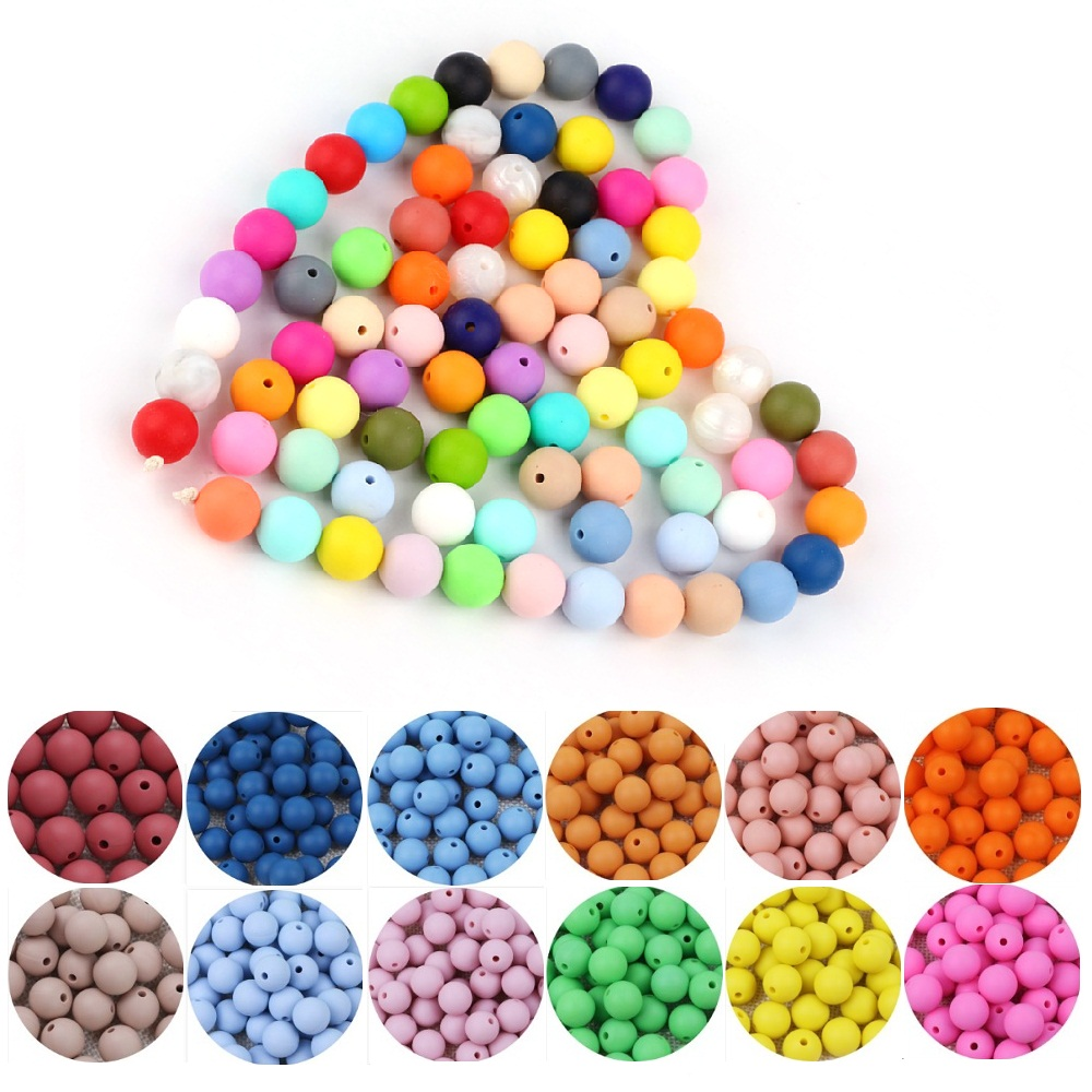 Keep Grow 500pcs 12MM Silicone Letters BPA Free Silicone Beads Alphabet 26 Letters Chewable Baby Teethers