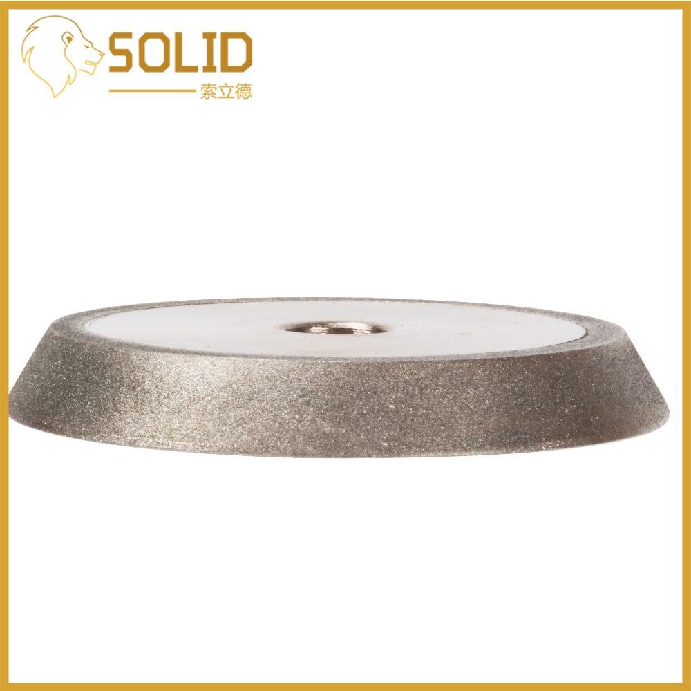 78mm Diamond Grinding Wheel Dish Grinder Circle Sharpener Disc For  Carbide Metal Tungsten Steel Milling Cutter Tool 200Grit