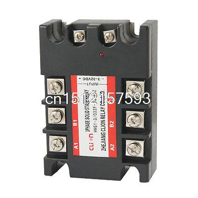 DC to AC Three 3 Phase Solid State Relay SSR 10A 3-32V DC 380V AC dc ac single phase ssr solid state relay 120a 3 32v dc 24 480v ac
