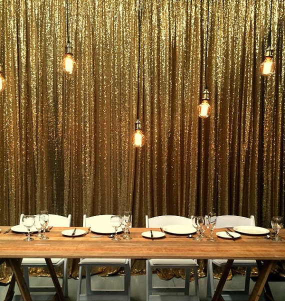 9ftx9ft Silver Gold Shimmer Sequin Fabric Backdrops