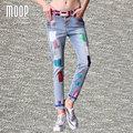 Американский стиль многоцветный окрашенные конструкции джинсовые брюки мода потертые гарем брюки нижняя pantalon femme LT846 Свободный корабль