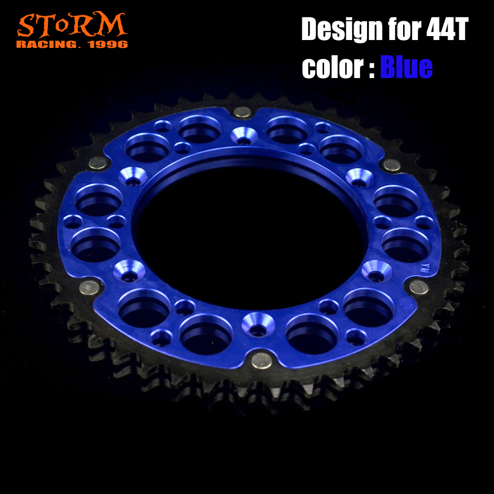 44 46 47 48 49 50 51 52 T Teeth Motorcycle Steel Aluminum Composite Rear Sprocket