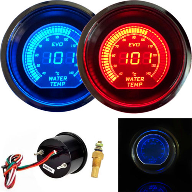 Universal Auto Gauges : Doxingye quot mm digital led evo water temperature gauge