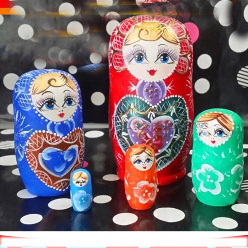 Nouveauté Mini poupées russes en bois de nidification peintes à la main matriochka poupée bricolage jouets éducatifs pour les enfants L50