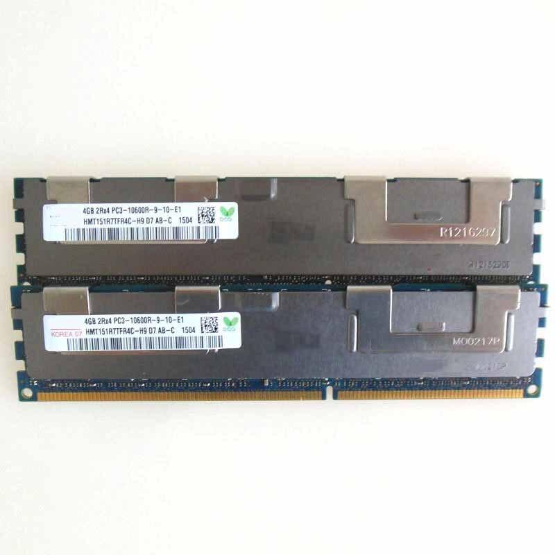 2X4G PC3-10600R DDR3 1333 mhz ECC mémoire REG enregistré 240pin RAM sever mémoire