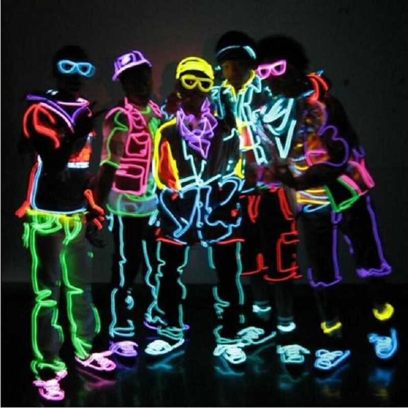10M EL Led Flexible Soft Tube Wire Neon Glow Car Rope Strip Light Xmas Christmas Home Decoration AC 12V
