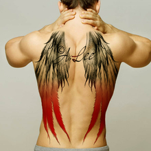 men temporary tattoo stickers body art waterproof wings tattoo large vintage sexy full back tatoo boys tribal fashion decal