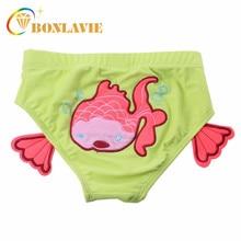 Плавки для маленьких мальчиков и девочек; детская одежда для купания с милым рисунком; короткие шорты с рисунком рыбы, парусника, краба; купальный костюм; подгузники