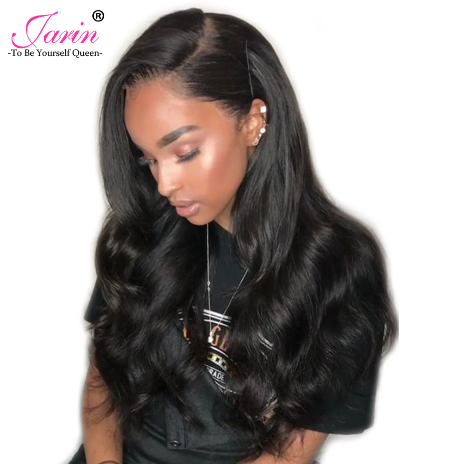 JARIN Human Hair Brazilian Body Wave Hair 3 Bundles With Lace Frontal Closure Pre Plucke ...
