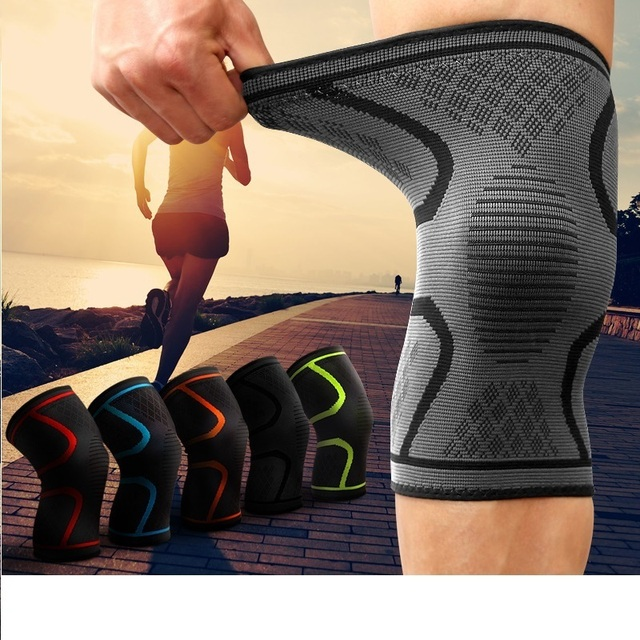 ac77546676 2 Pcs/lot Gym Fitness Running Cycling Knee Support Braces Elastic Nylon  Sport Compression Knee Pad Sleeve Basketball Men Women