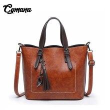 CGMANA Women Handbag 2018 Designer Shoulder Bag Fashion Vintage Leather Female Messenger Bags Retro Crossbody