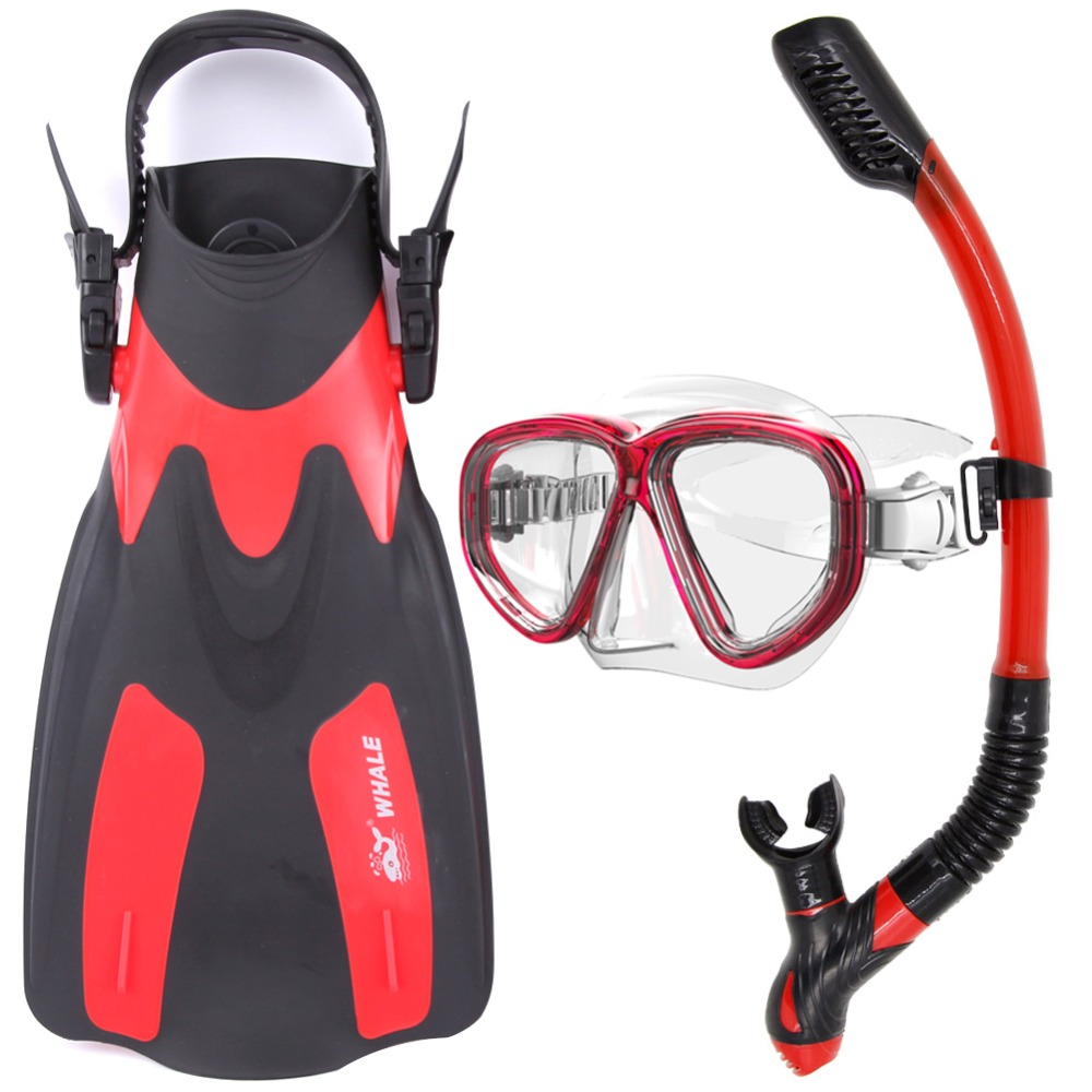 WHALE Professional Diving Equipment Diving Set With Fin Diving Mask Snorkel FN200-MK500-SK900 whale adventure