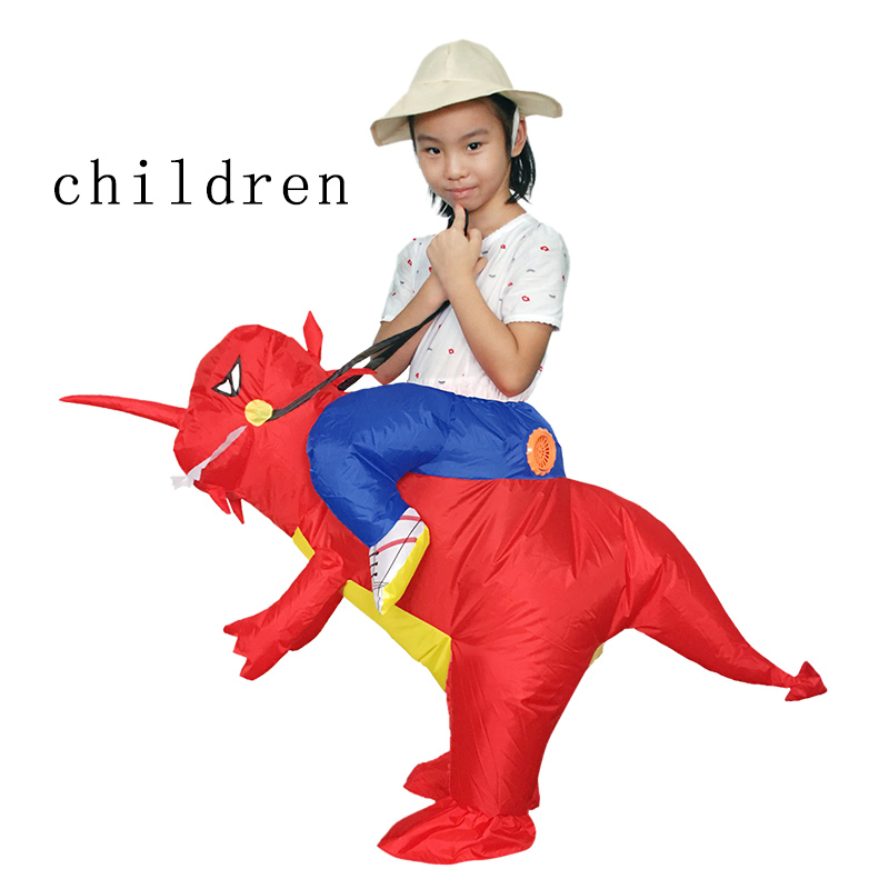 Image 5 - Adult Or Kids Inflatable Ride On Walking  Dinosaur Animal Cosplay Costume  Halloween Costumes For Women Man Children Fancy Dress-in Anime Costumes from Novelty & Special Use