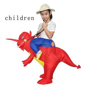 Image 5 - Adulti O Bambini Gonfiabile Ride On Walking Dinosauro Animale Cosplay Costume Di Natale Ringraziamento Per Wome Bambini Fancy Dress